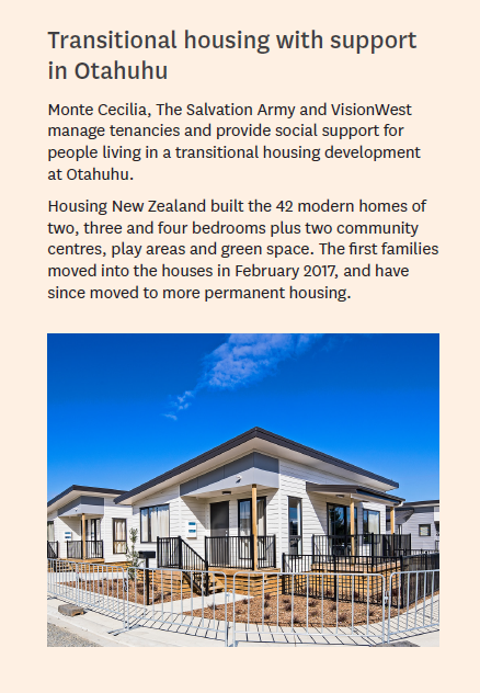 Transitiona housing with support in Otahuhu